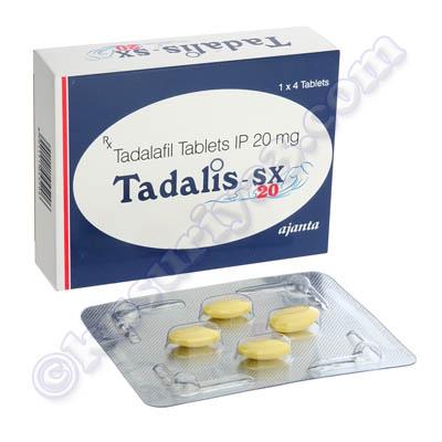 タダリス - SX (タダラフィル) 20 mg(Tadalis SX (Tadalafil) - 20mg (4 ...