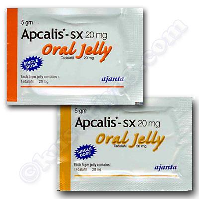 アプカリス オーラル ゼリー 20mg(Apcalis Oral Jelly (Tadalafil) - 20mg (5gm ...